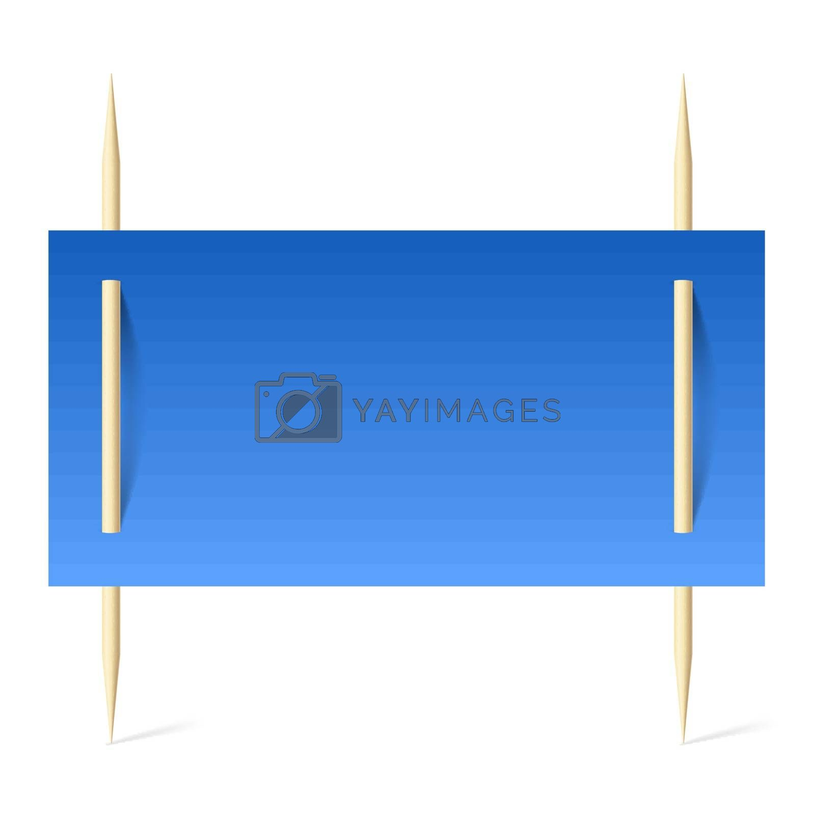 Blue paper on toothpicks by dvarg