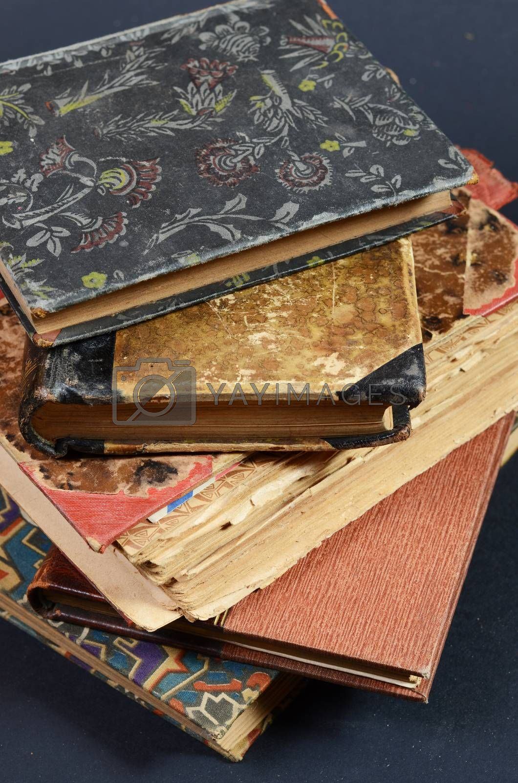 stack antique  books by sarkao