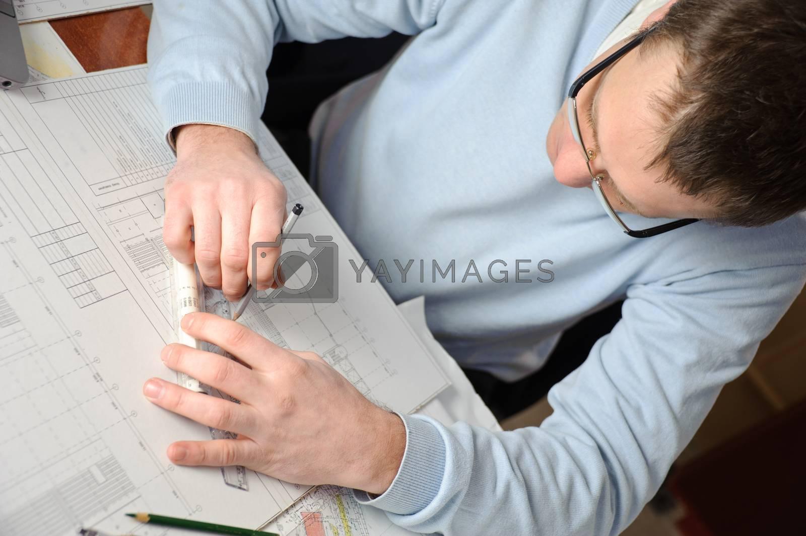 Architect in work. by bashta