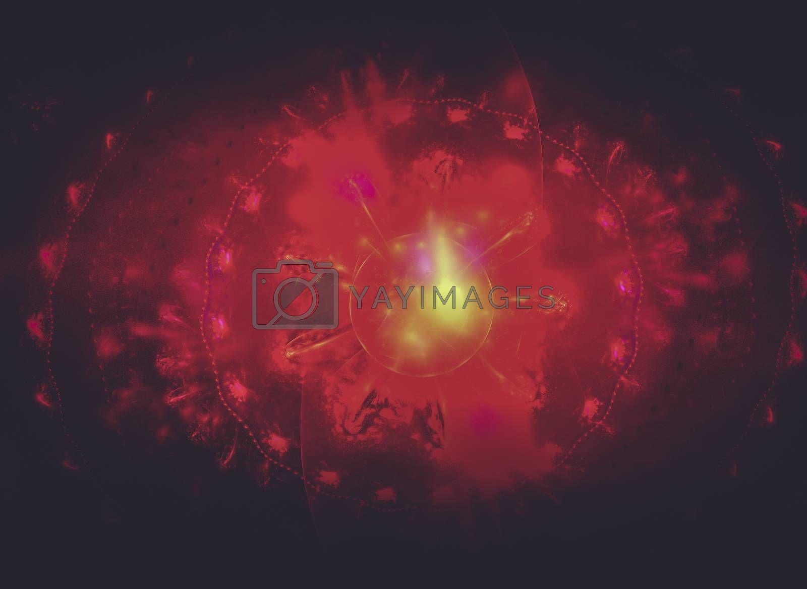 Creative design background, fractal styles with color design of dreamy forms on the subject of dream, imagination and fantasy
