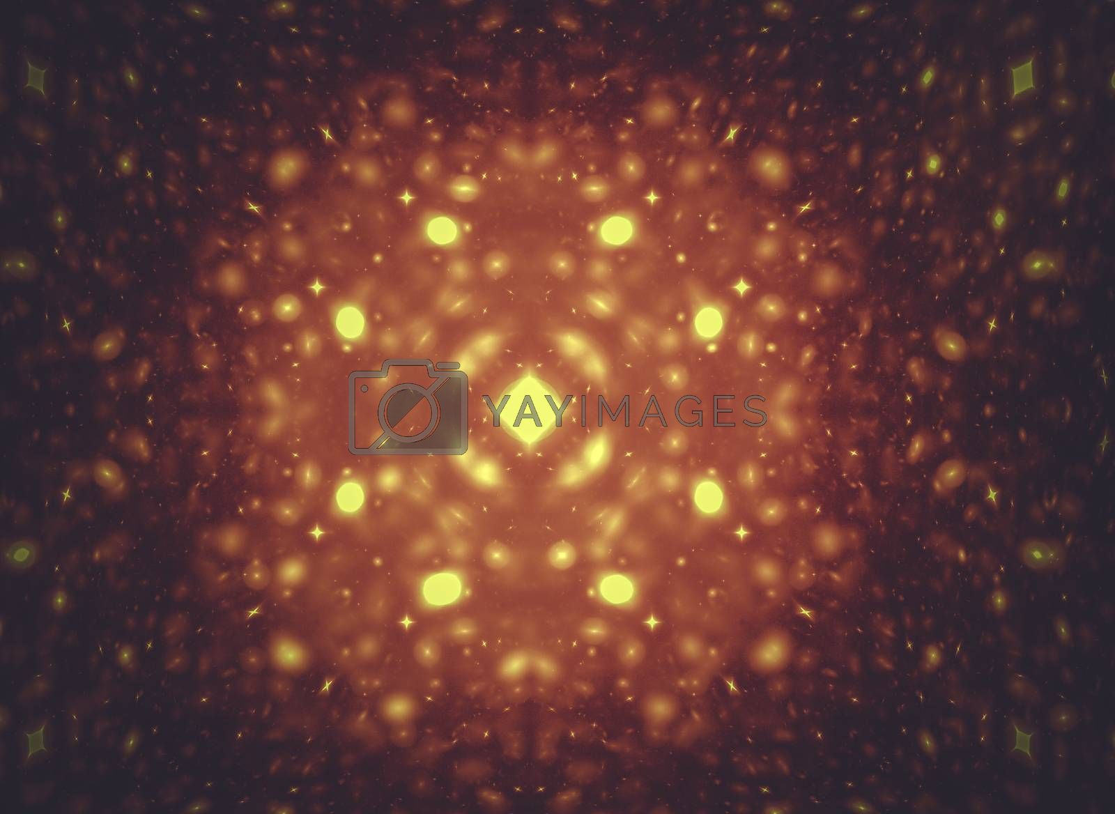 Star. Creative design background, fractal styles with color design of dreamy forms imagination and fantasy