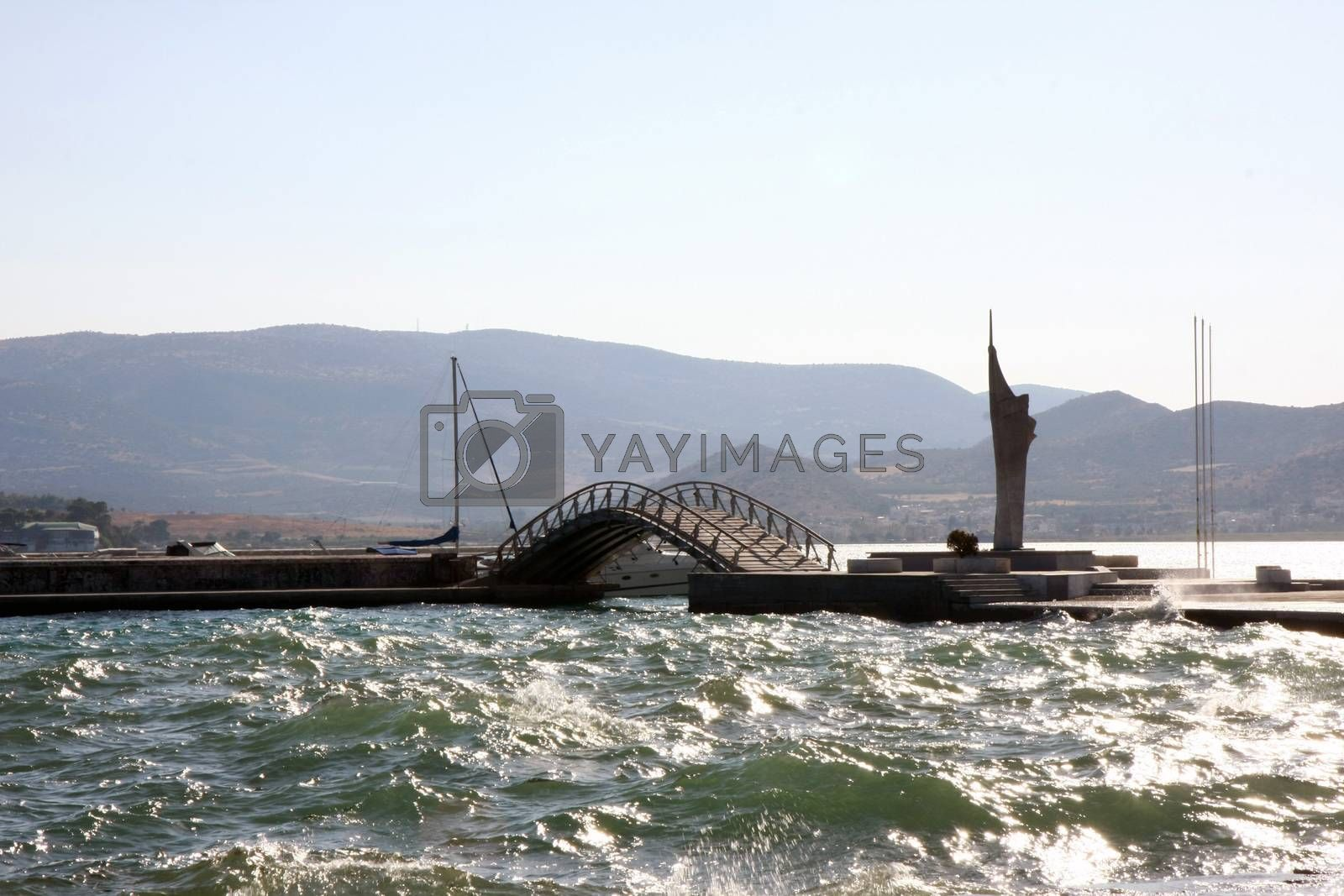 Volos,Greece,promenade along the seaside