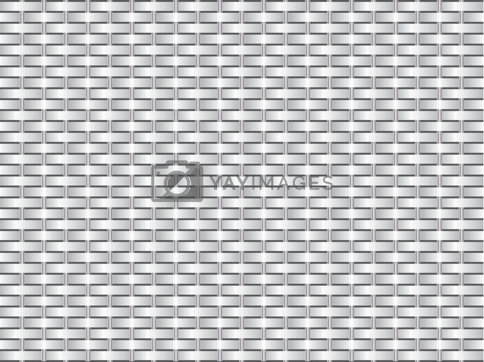 Grid like texture design with metal bars