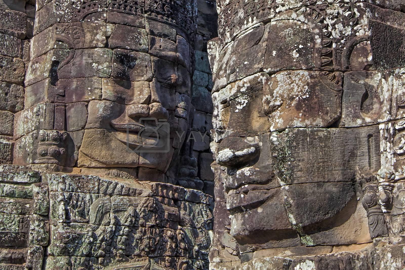 Bayon buddhist khmer temple in Angkor Wat, Cambodia