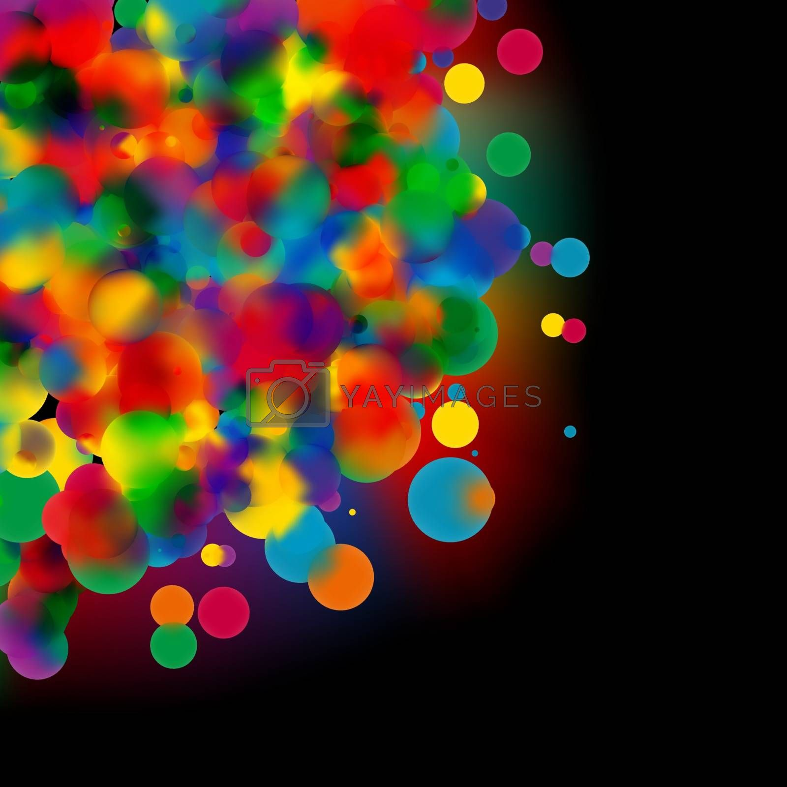 Abstract colourful background copy space. EPS 8 vector file included