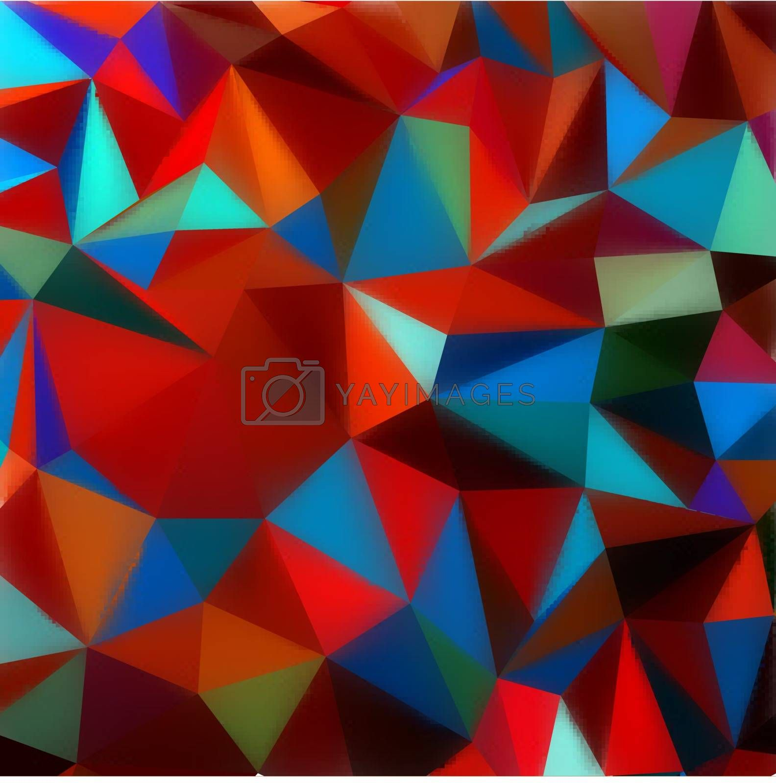 Polygon triangle abstract background. EPS 8 vector file included