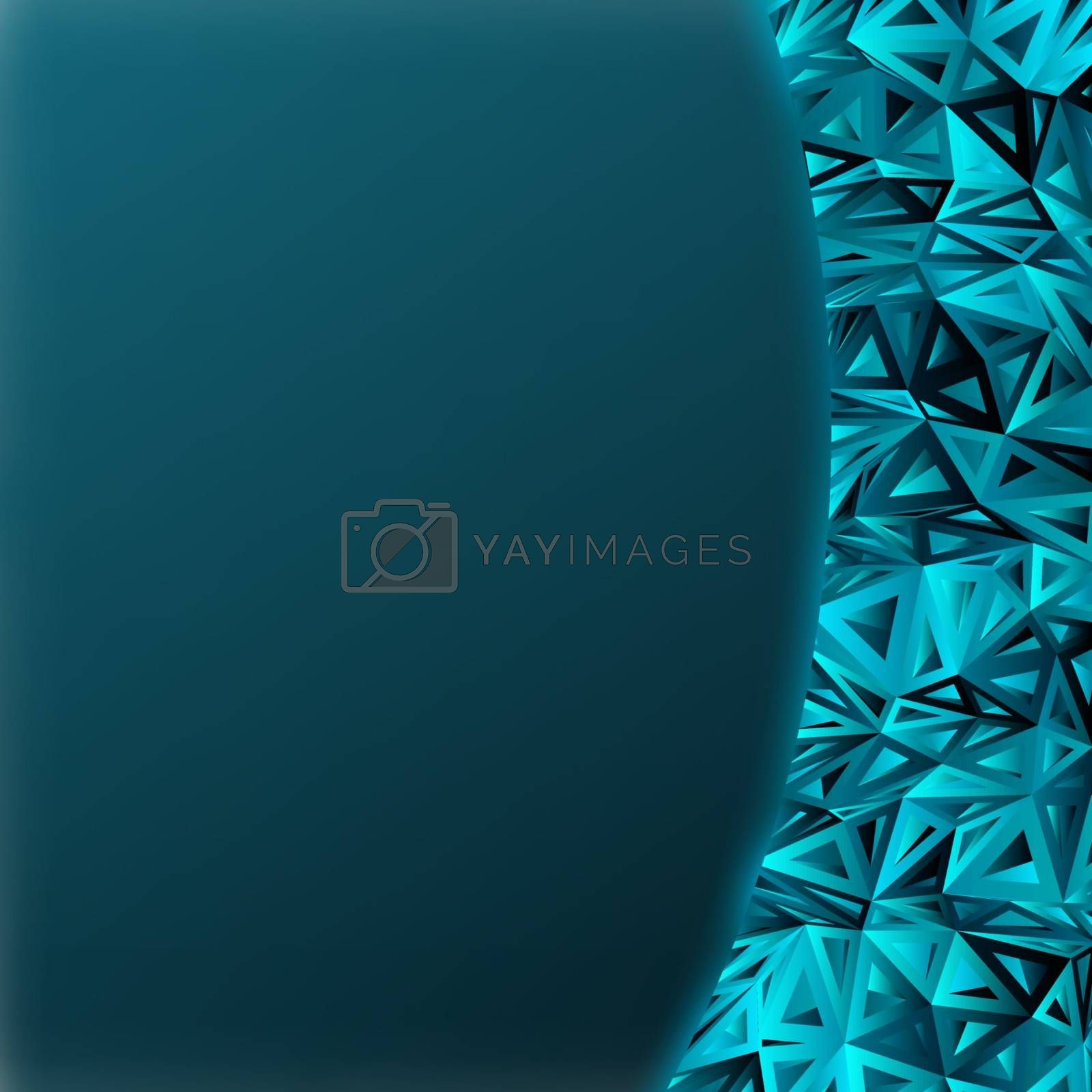 Dark blue abstract composition with copy space. EPS 8 vector file included