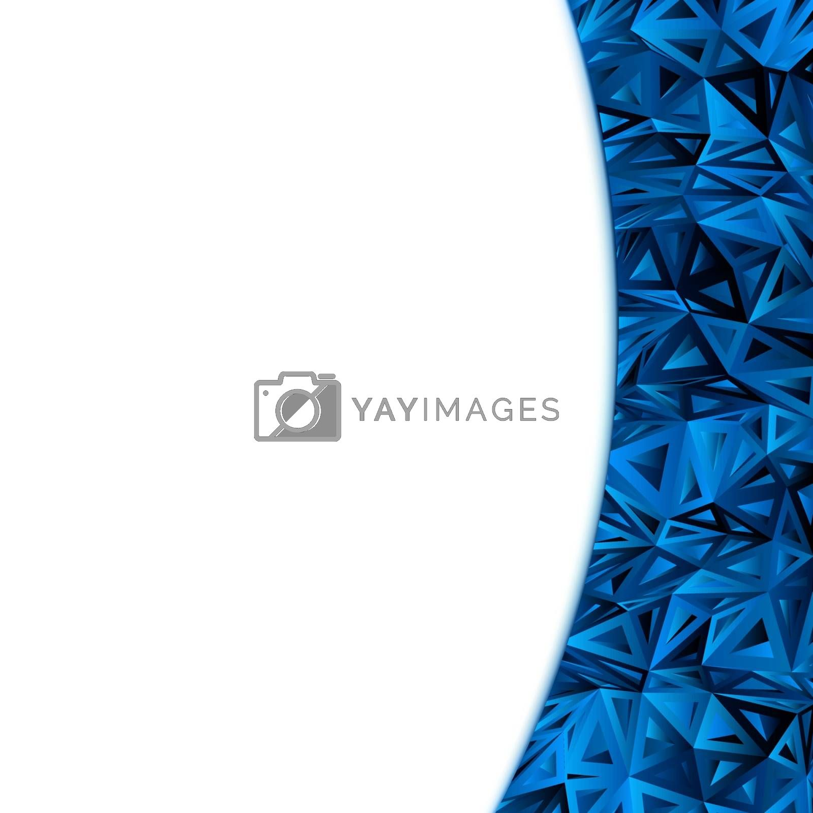 Royalty free image of Abstract Blue Vector Design Template. EPS 8 by Petrov_Vladimir