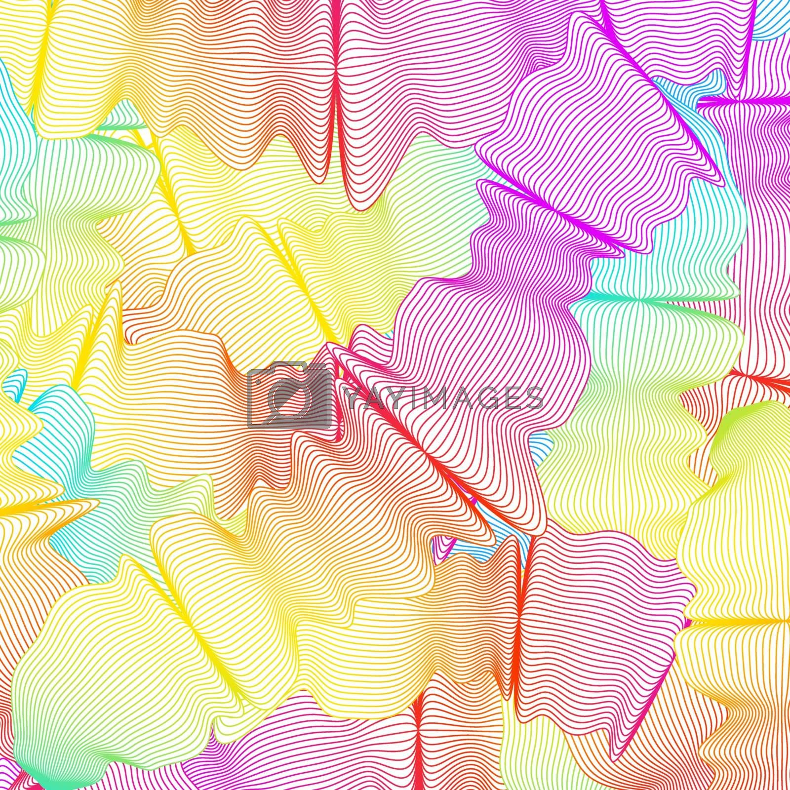 Illustration of wavy curved colored lines. EPS 8 vector file included