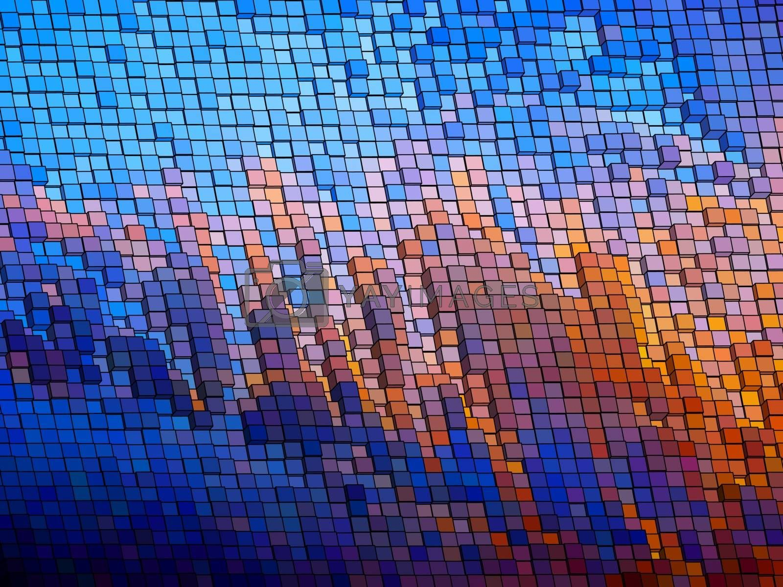 Royalty free image of Mosaic vector background. EPS 8 by Petrov_Vladimir