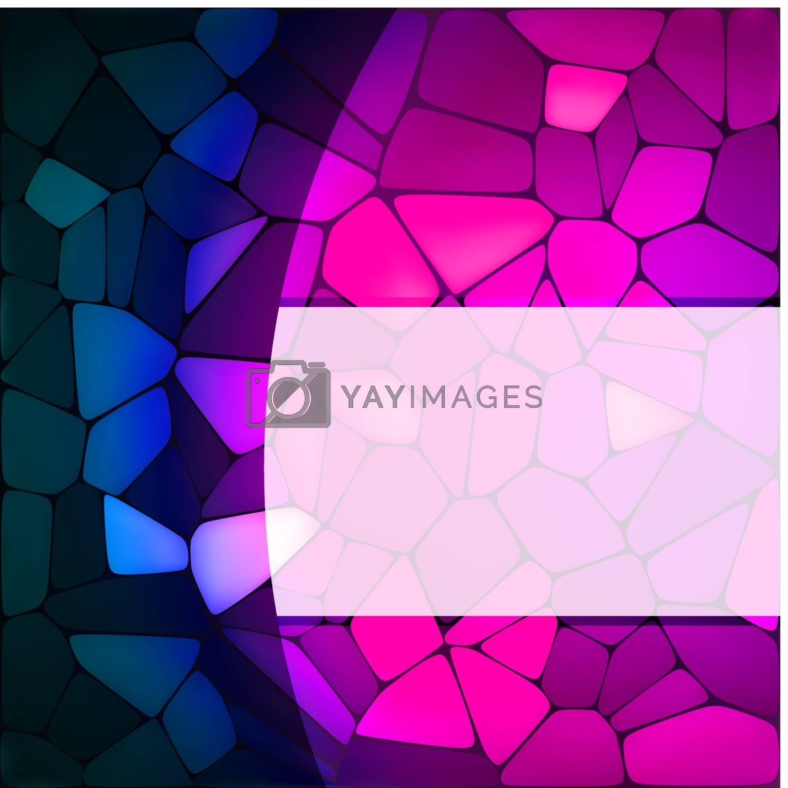 Stained glass design template. EPS 8 vector file included