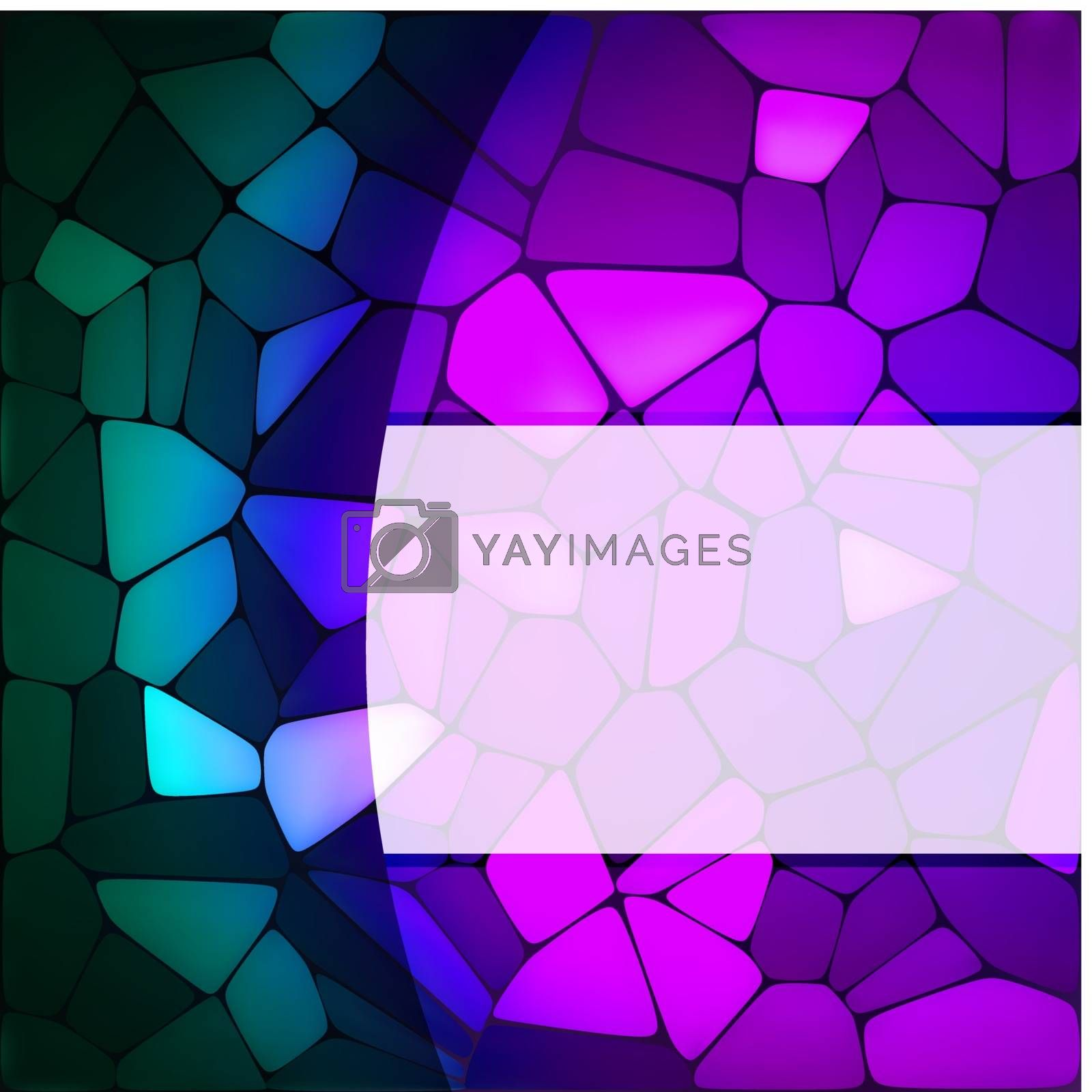 Royalty free image of Stained glass design template. EPS 8 by Petrov_Vladimir