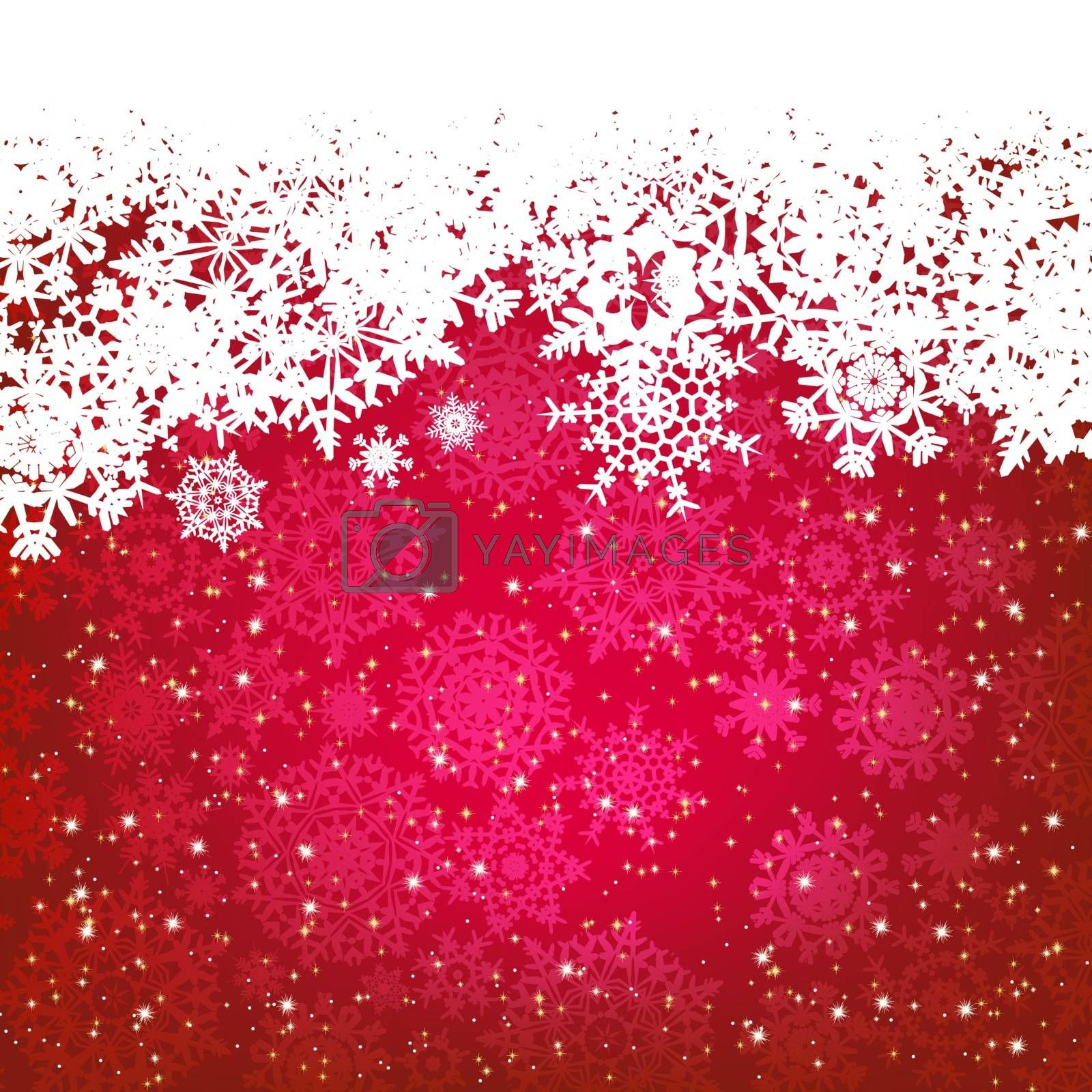 Royalty free image of Beautiful red happy Christmas card. EPS 8 by Petrov_Vladimir