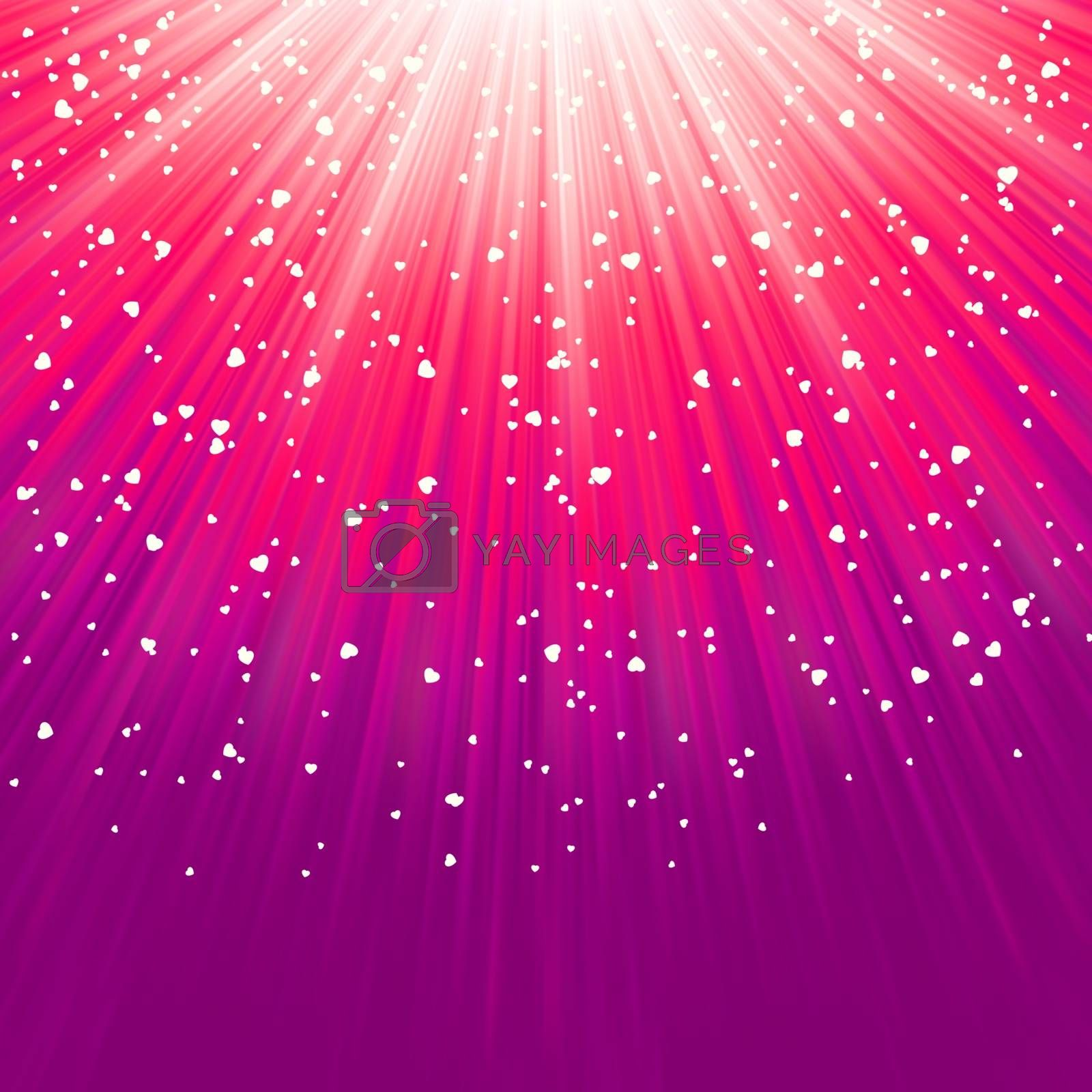 Love bright theme with hearts and stars. EPS 8 vector file included