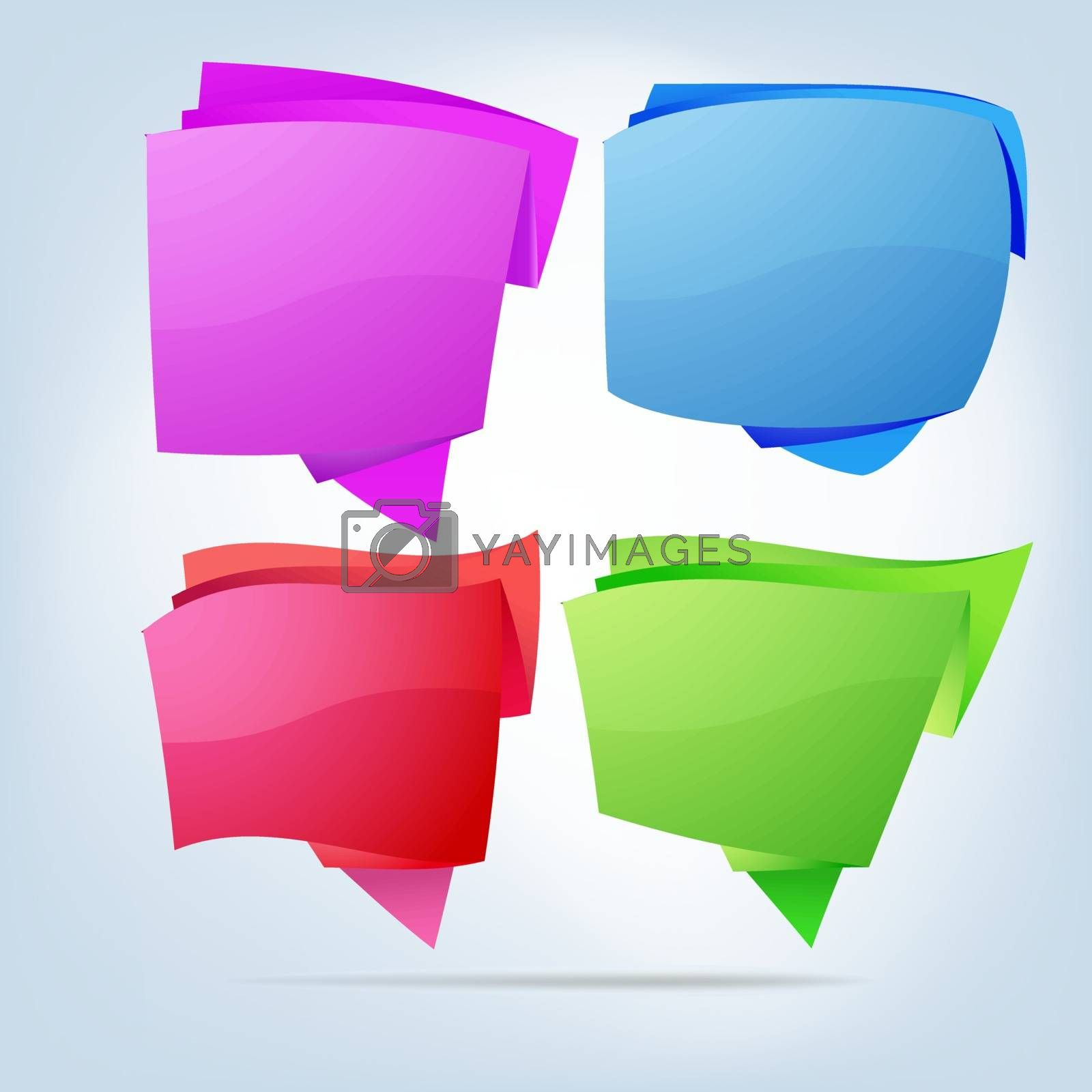 Abstract bubbles for speech. EPS 8 vector file included