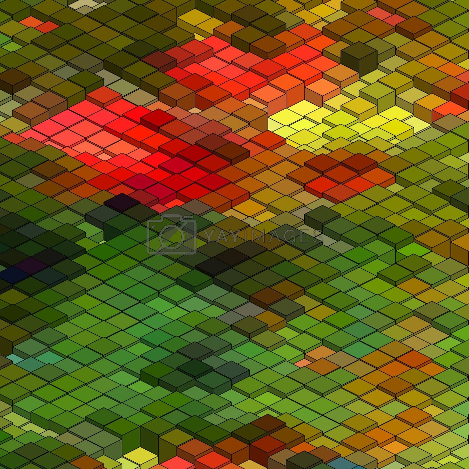 Abstract 3d colorful mosaic background. EPS 8 vector file included