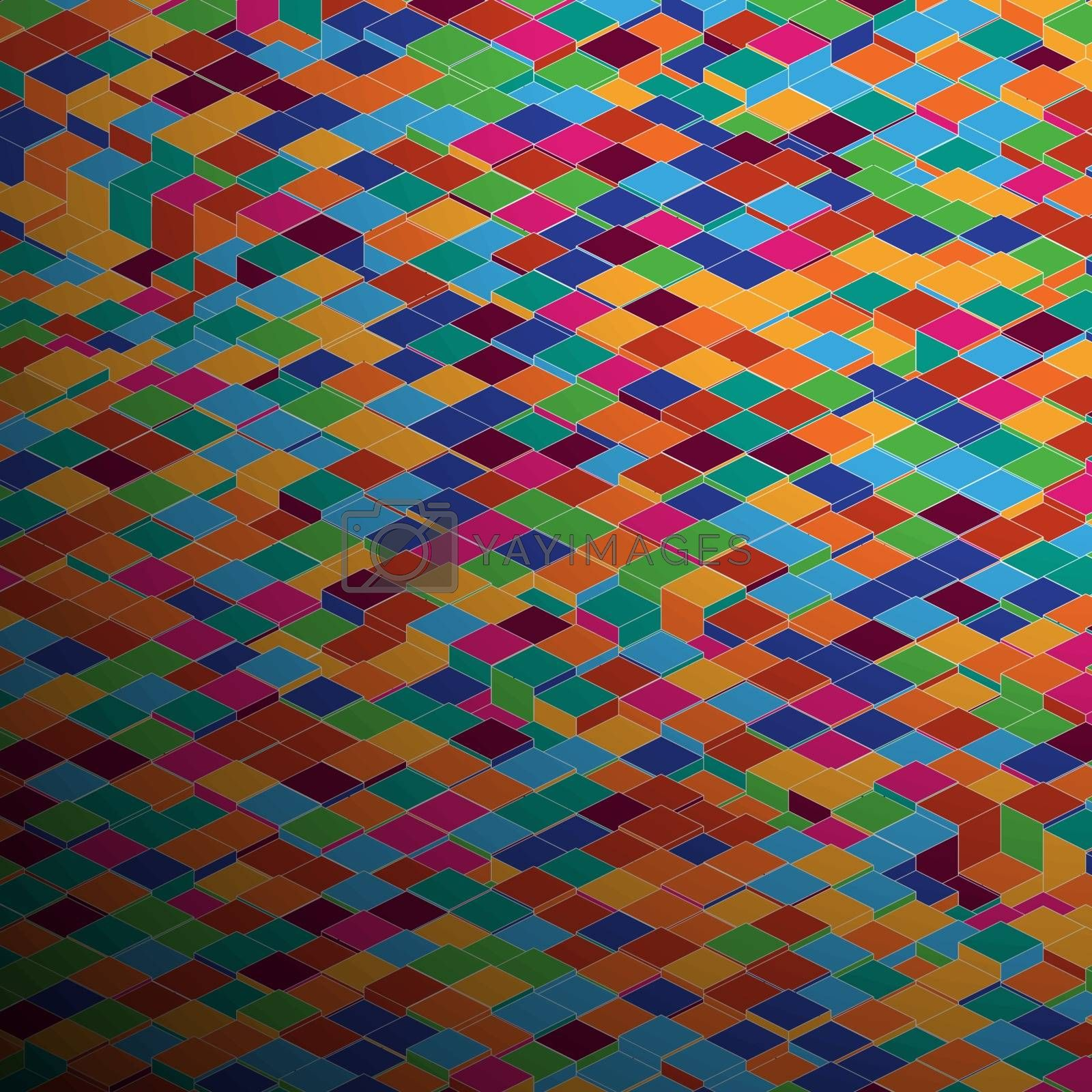 Abstract square pixel mosaic background. EPS 8 vector file included