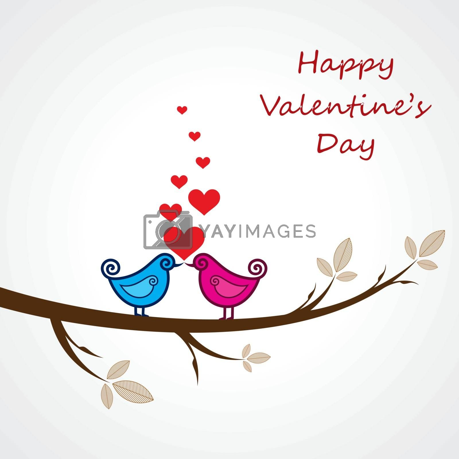 Happy valentines day greeting stock vector
