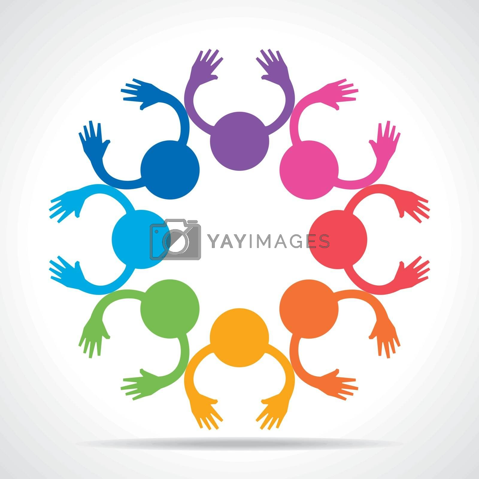 Colorful People Connection concept stock vector