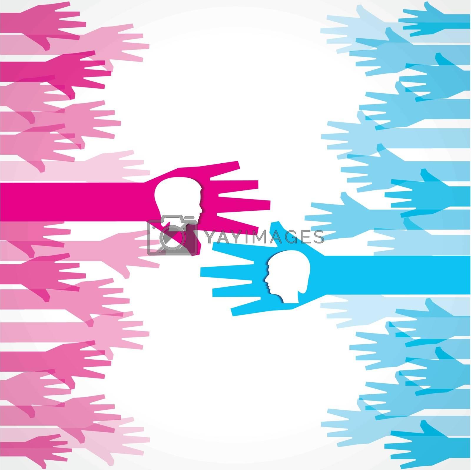 businessman and businesswoman handshake concept stock vector