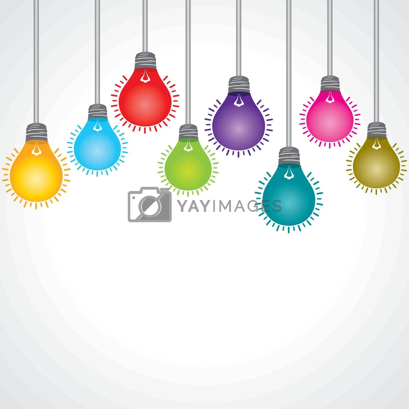 Colorful bulb stock vector