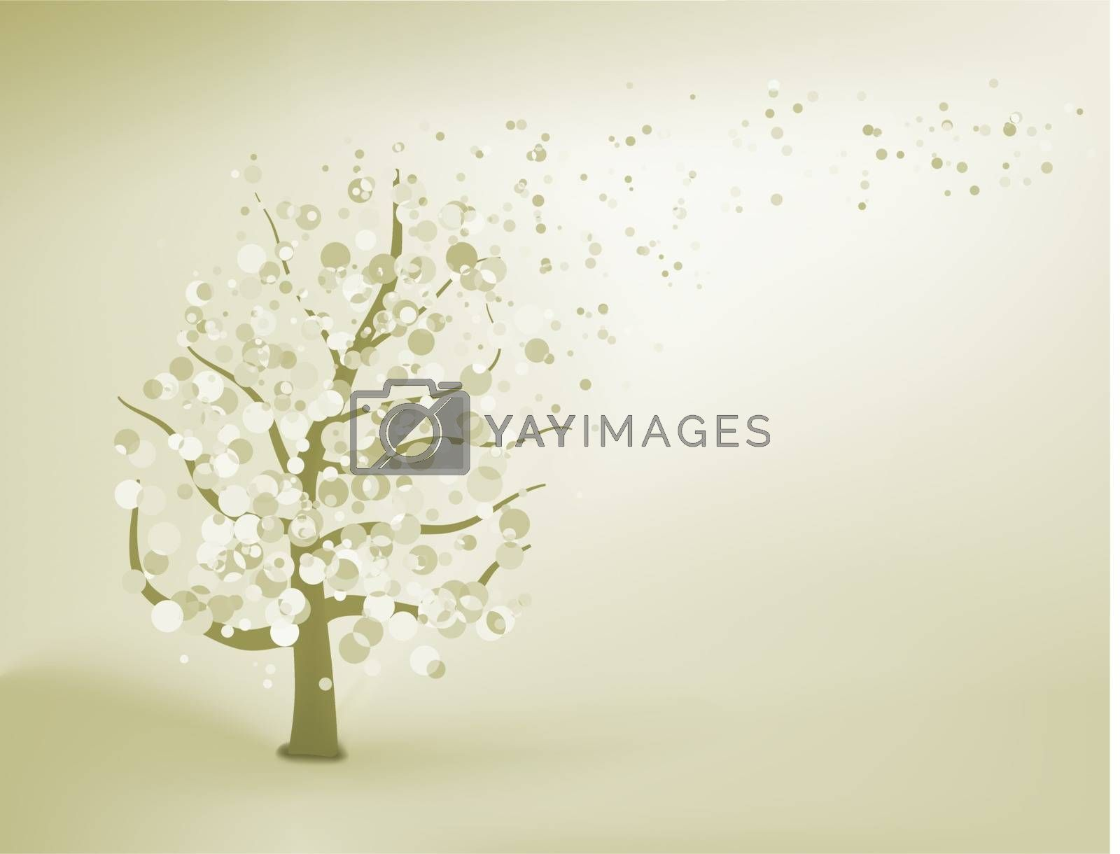 Abstract elegant tree. EPS 8 vector file included