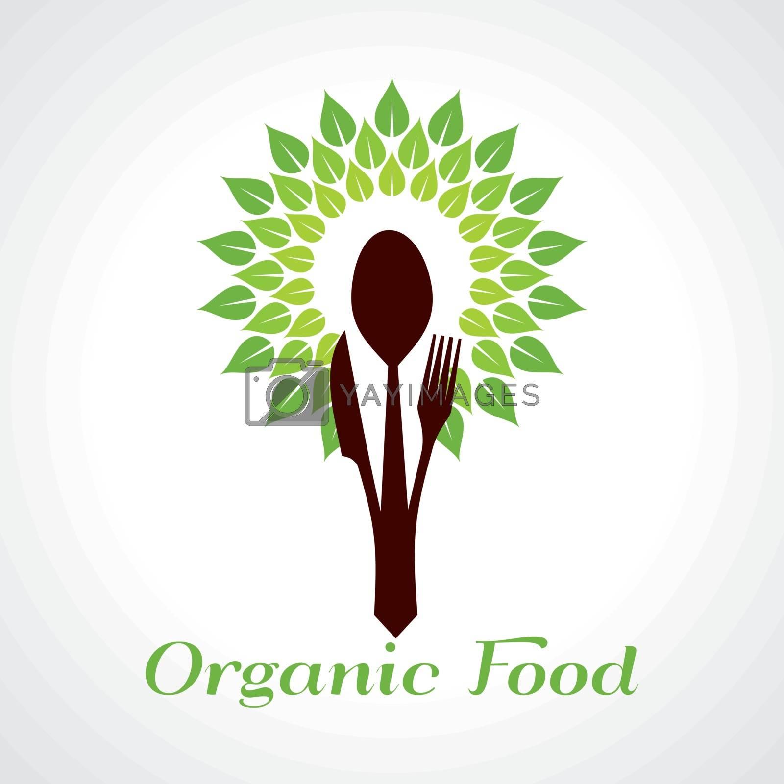 Organic food concept stock vector
