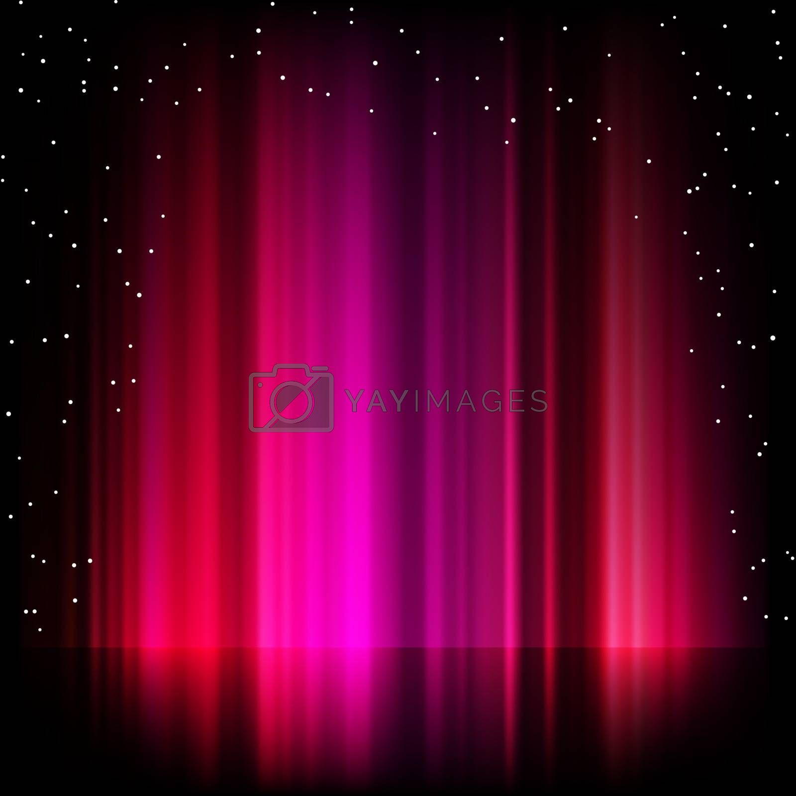 Purple aurora borealis background. EPS 8 vector file included