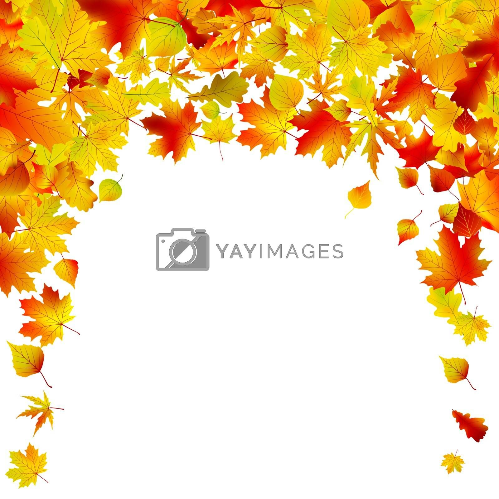 Autumn background isolated design. EPS 8 vector file included