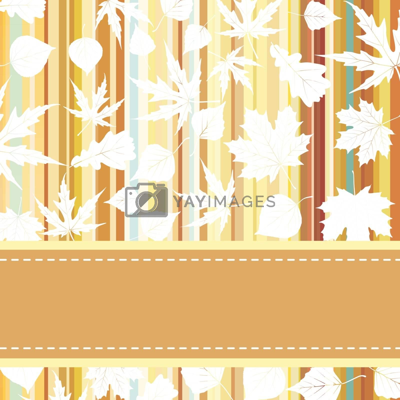 Retro pattern with autumn leafs. EPS 8 vector file included