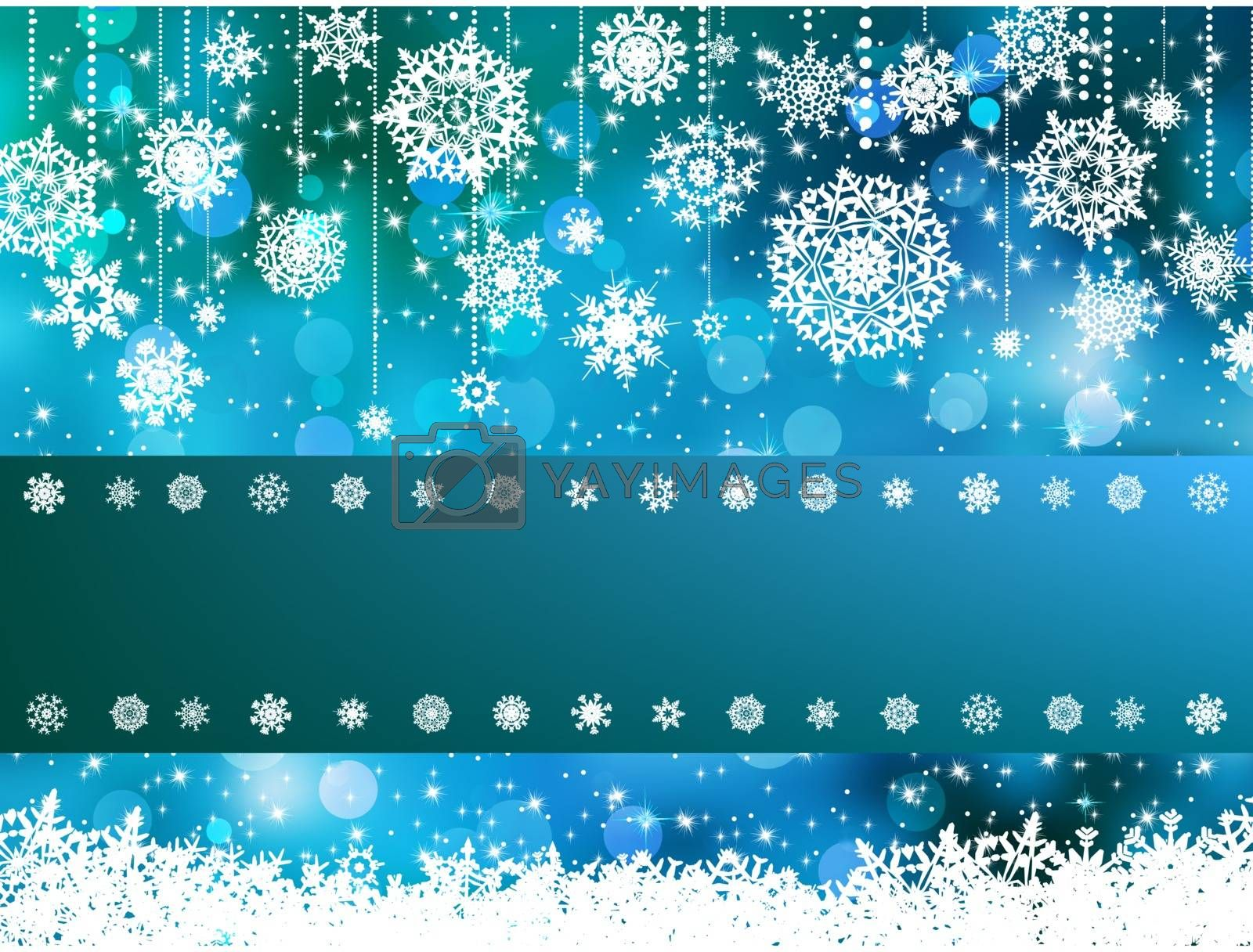 Blue bokeh of christmas lights. EPS 8 vector file included
