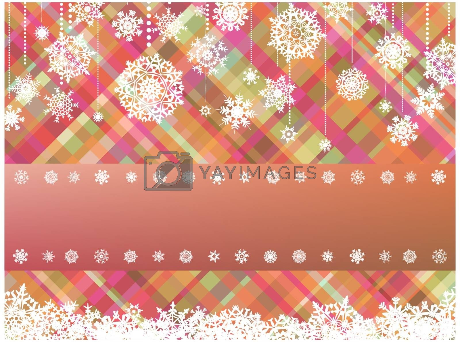 Beige background with christmas snowflake. EPS 8 vector file included