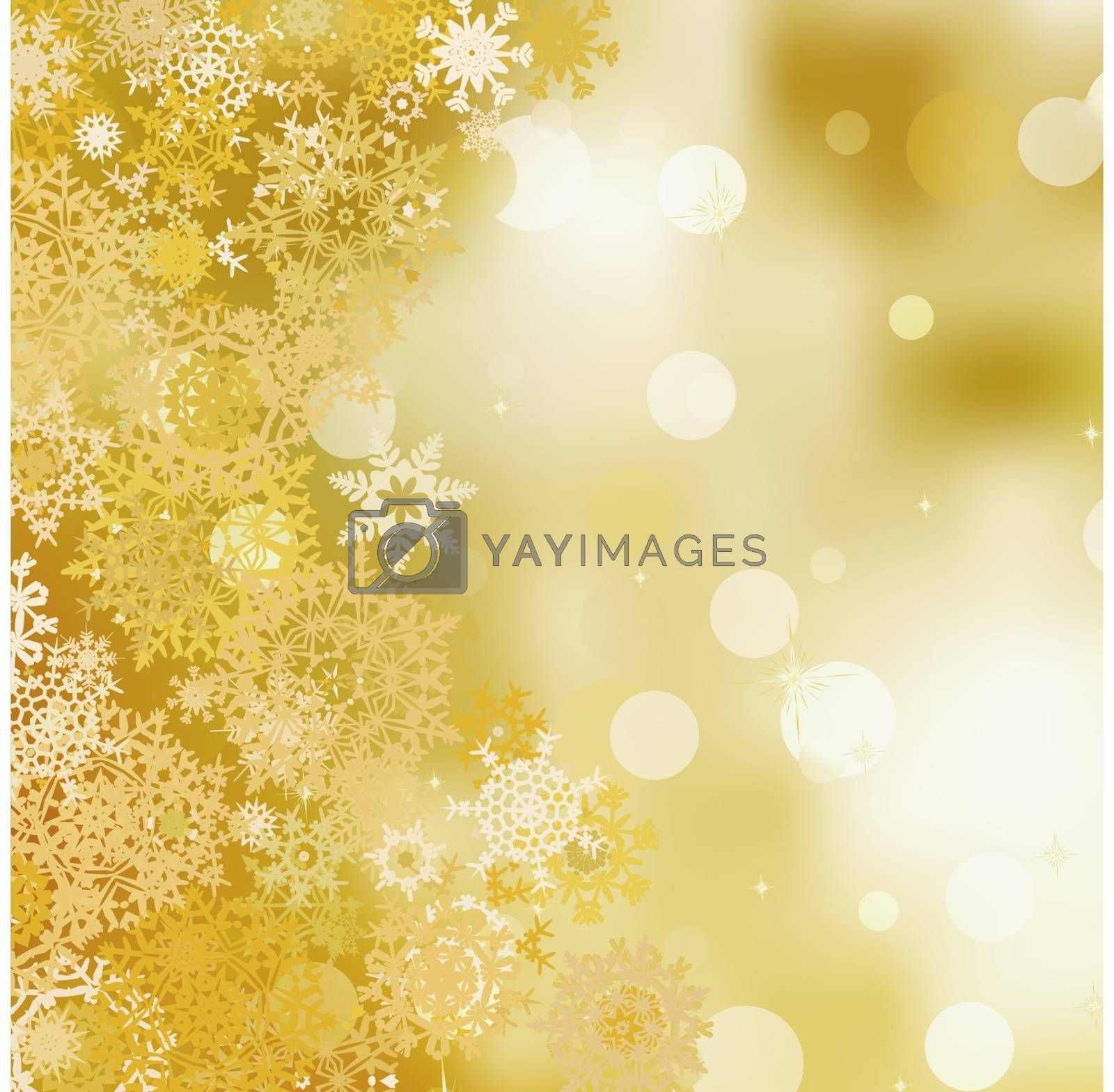 Golden christmas background. EPS 8 vector file included