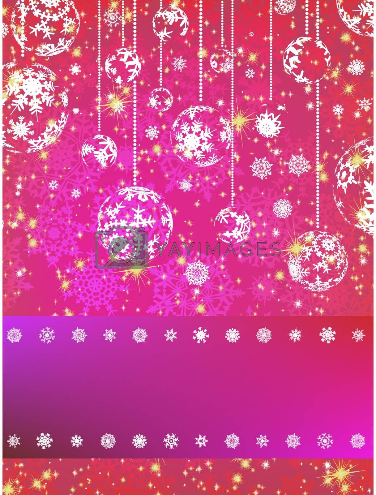 Pink Christmas Background. EPS 8 vector file included