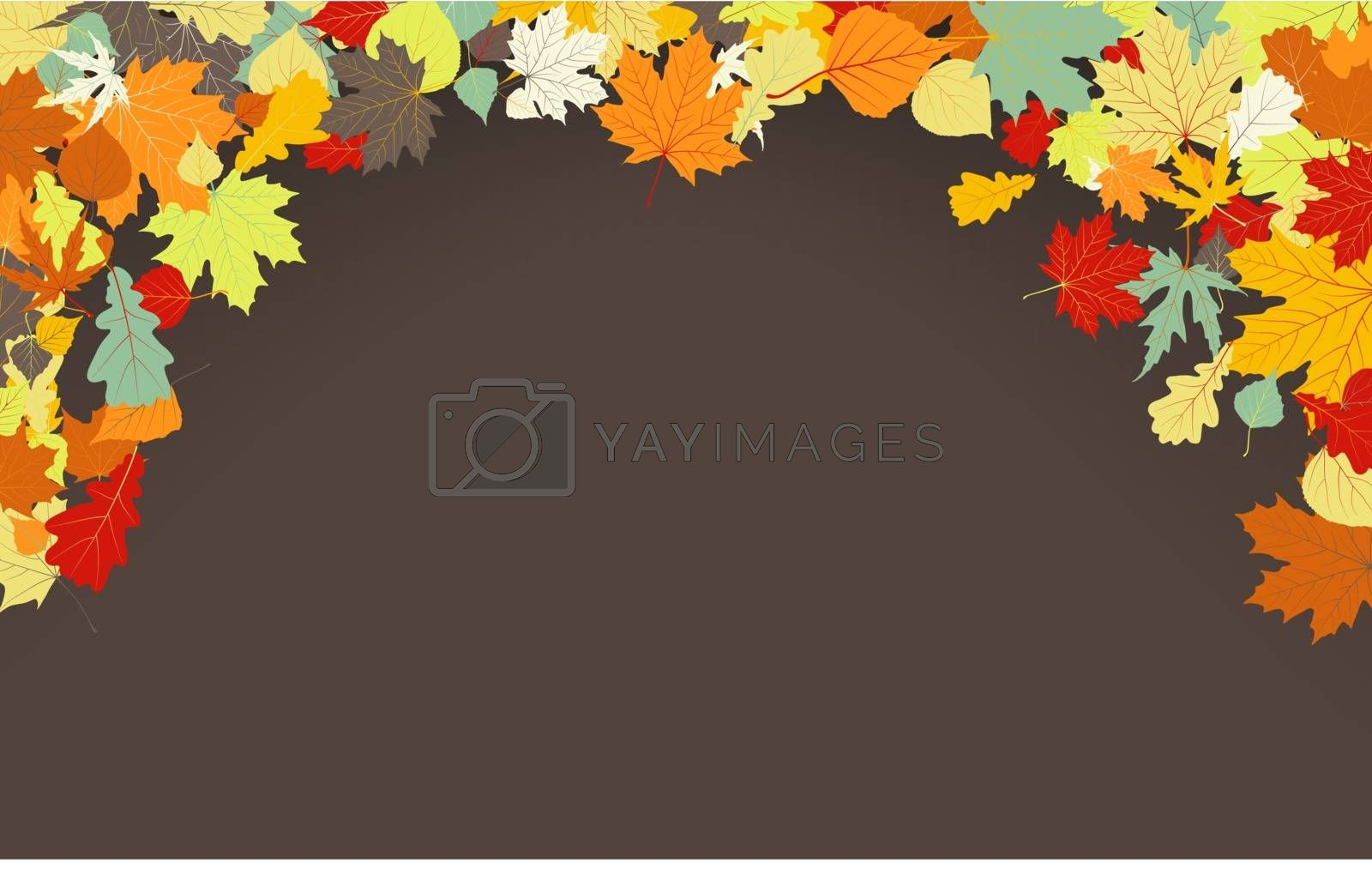 Brown autumnal background. EPS 8 by Petrov_Vladimir
