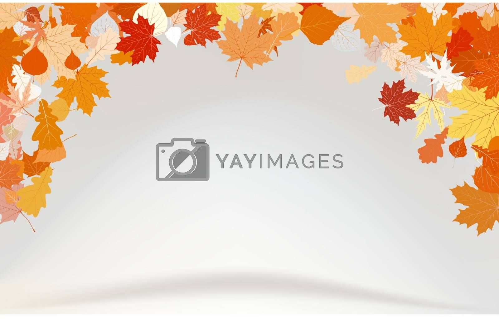 Abstract fly leafs vector background. EPS 8 vector file included