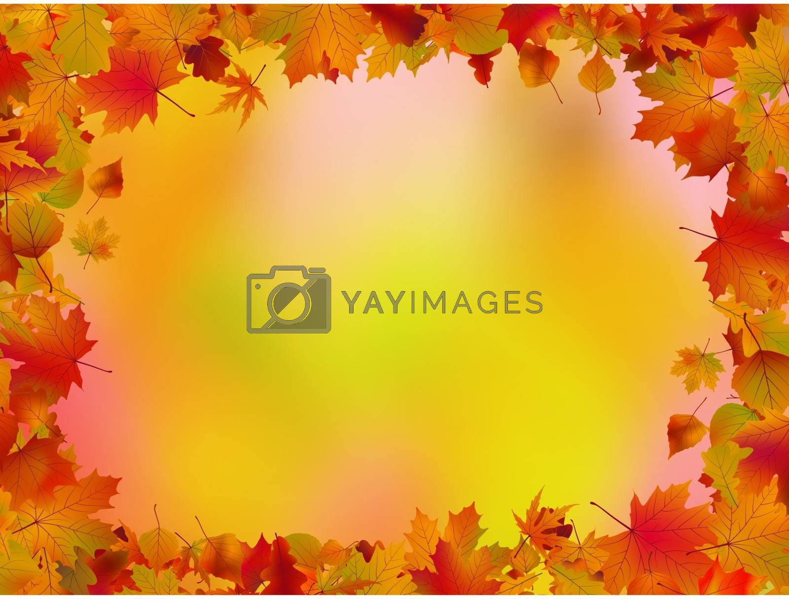 Autumn leaves border for your text. EPS 8 vector file included