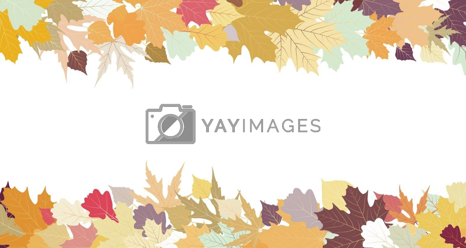 Autumn design with copy space, EPS 8 by Petrov_Vladimir