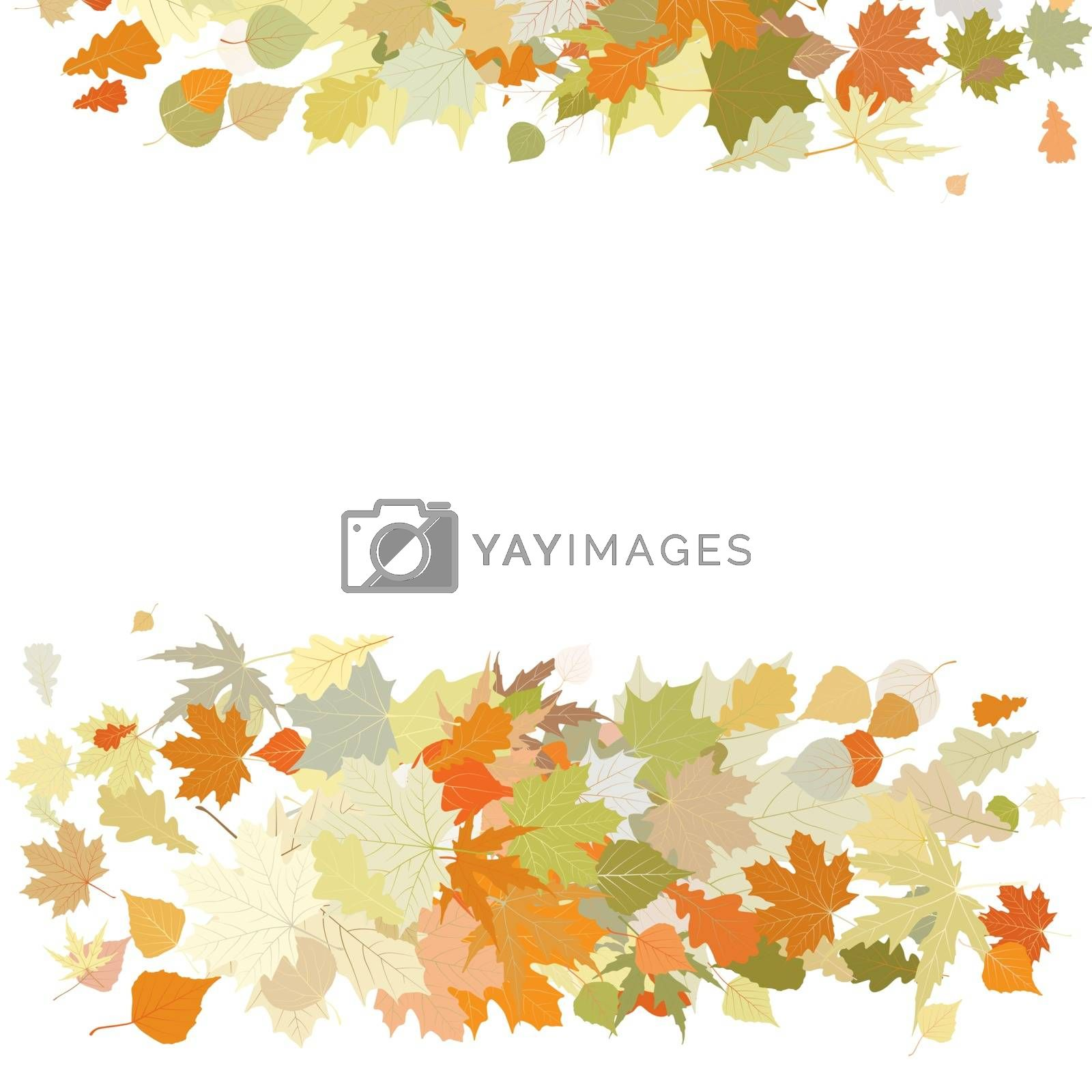 Autumn design with leafs. EPS 8 by Petrov_Vladimir