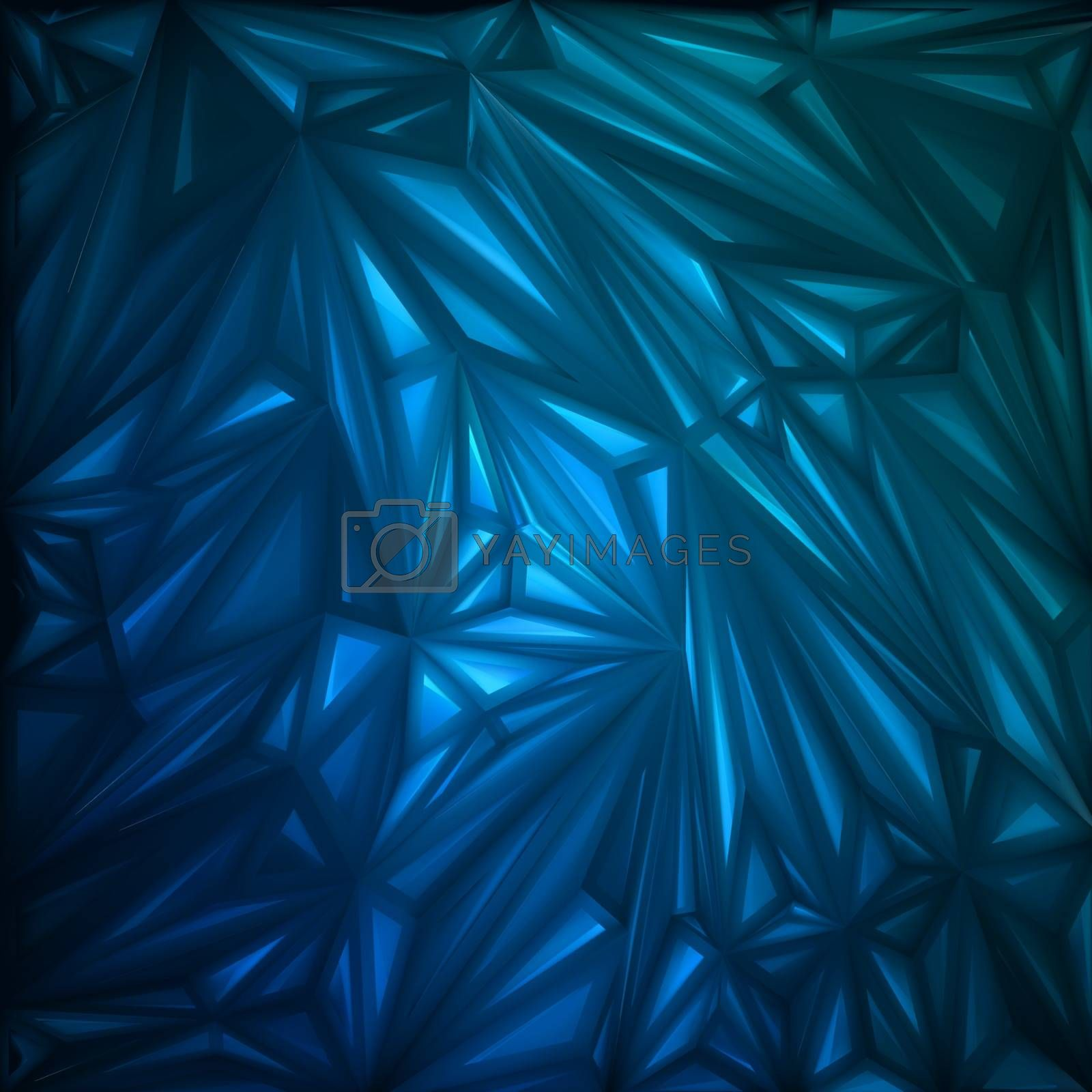 Abstract Triangle glow template. EPS 8 vector file included