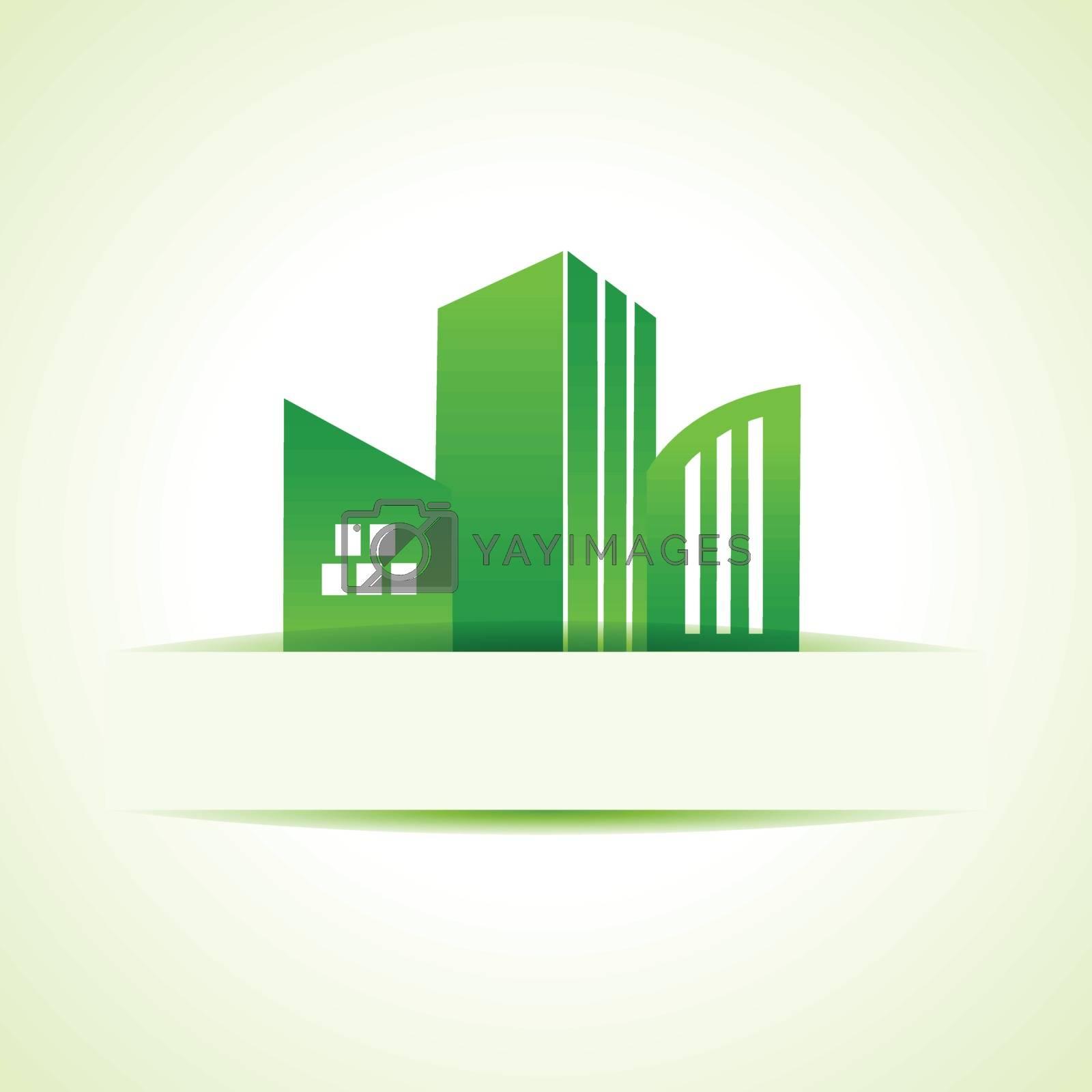 Abstract eco real estate design stock vector