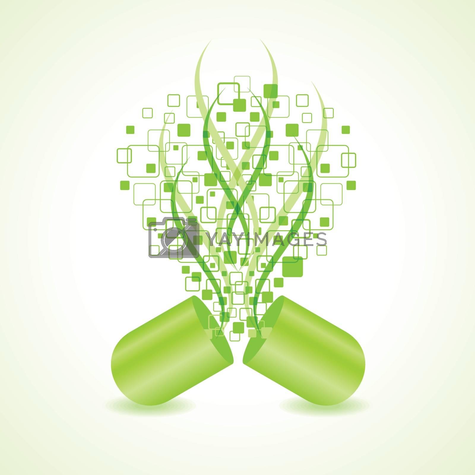 green hit-tech capsule design concept vector