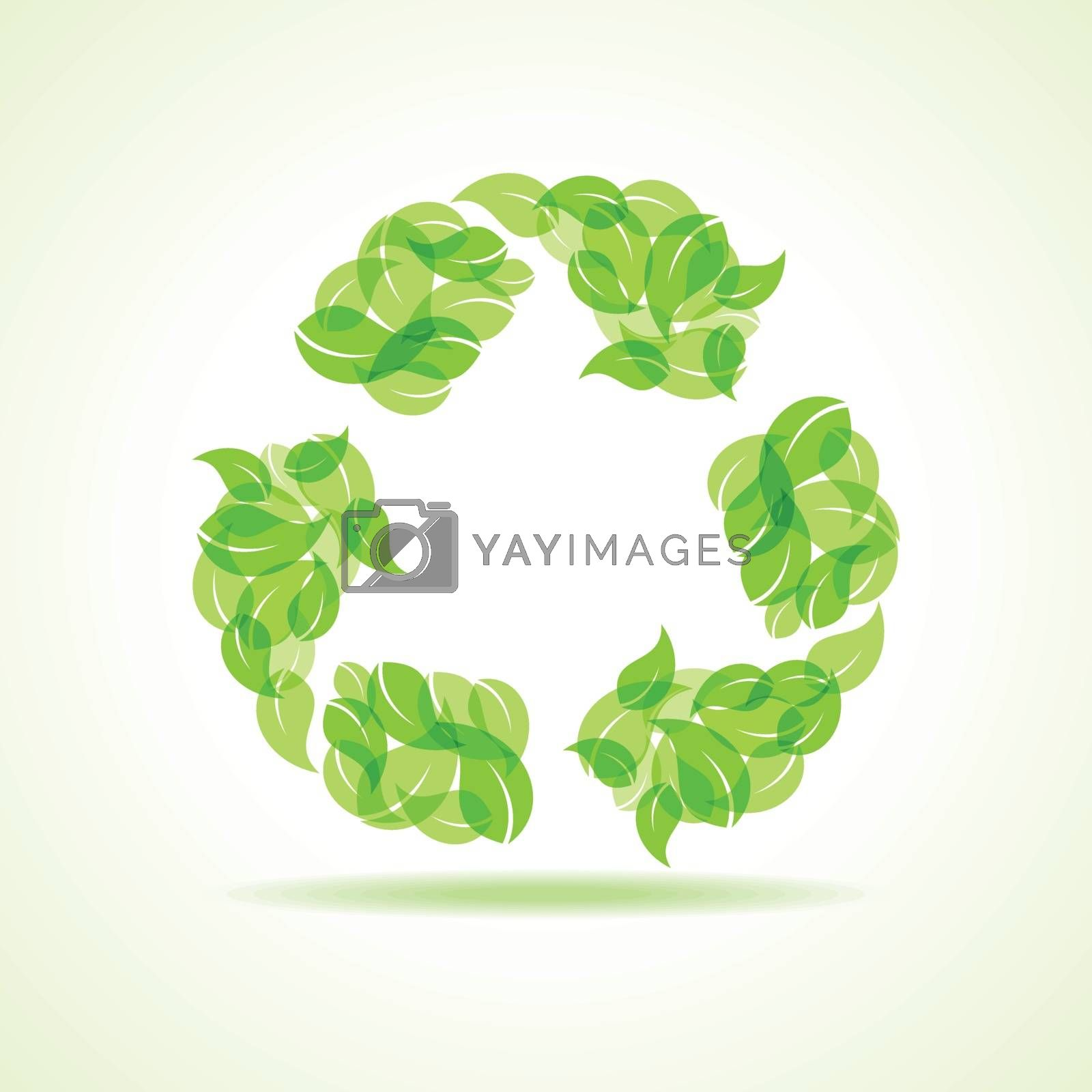 Eco leaves make a recycle icon stock vector