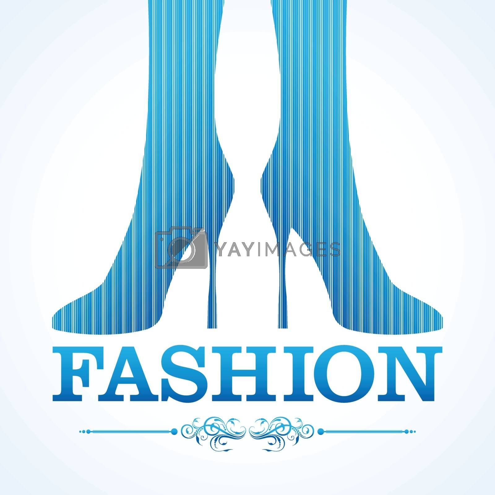 Beauty and fashion icon with shoe stock vector