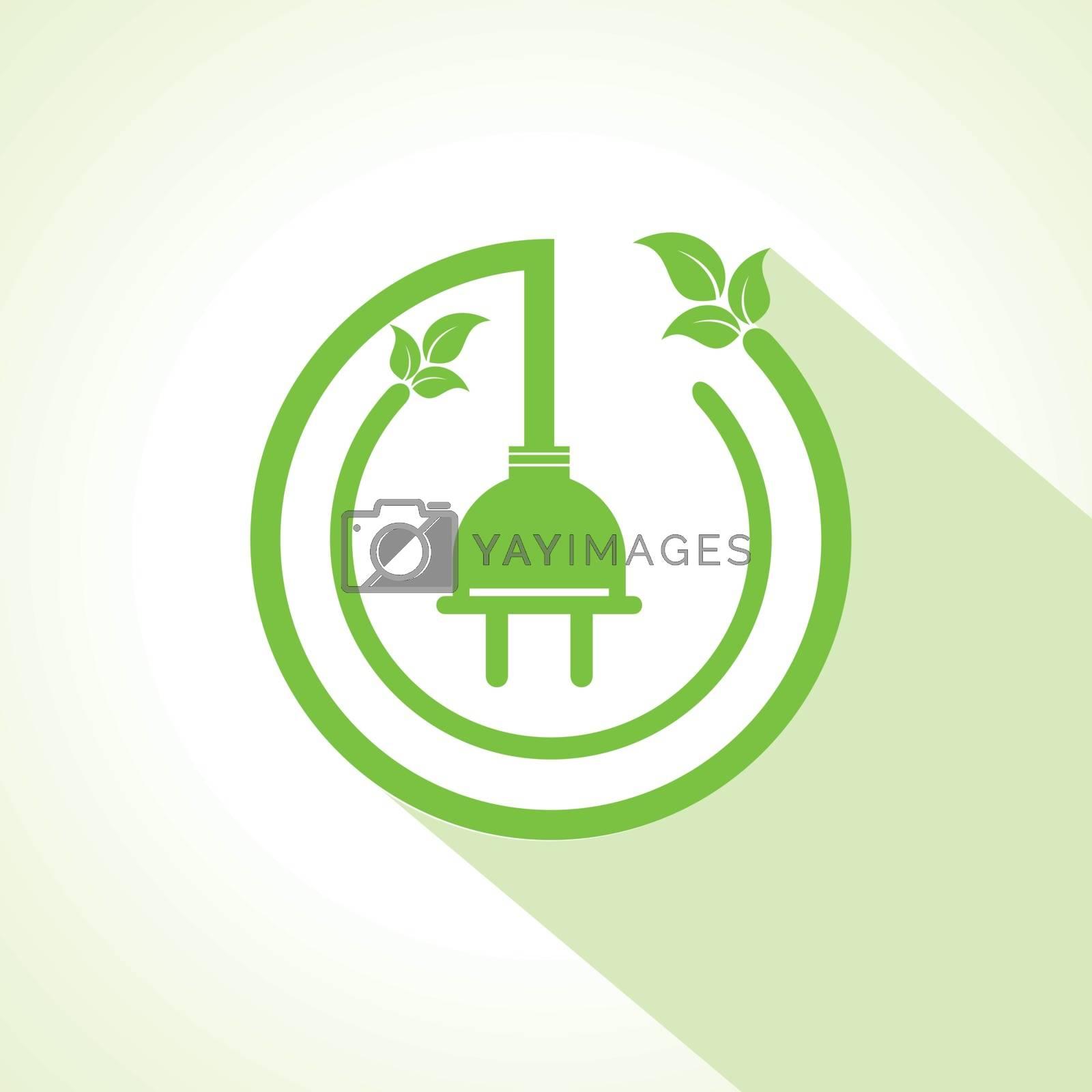 Eco electric plug with leaf