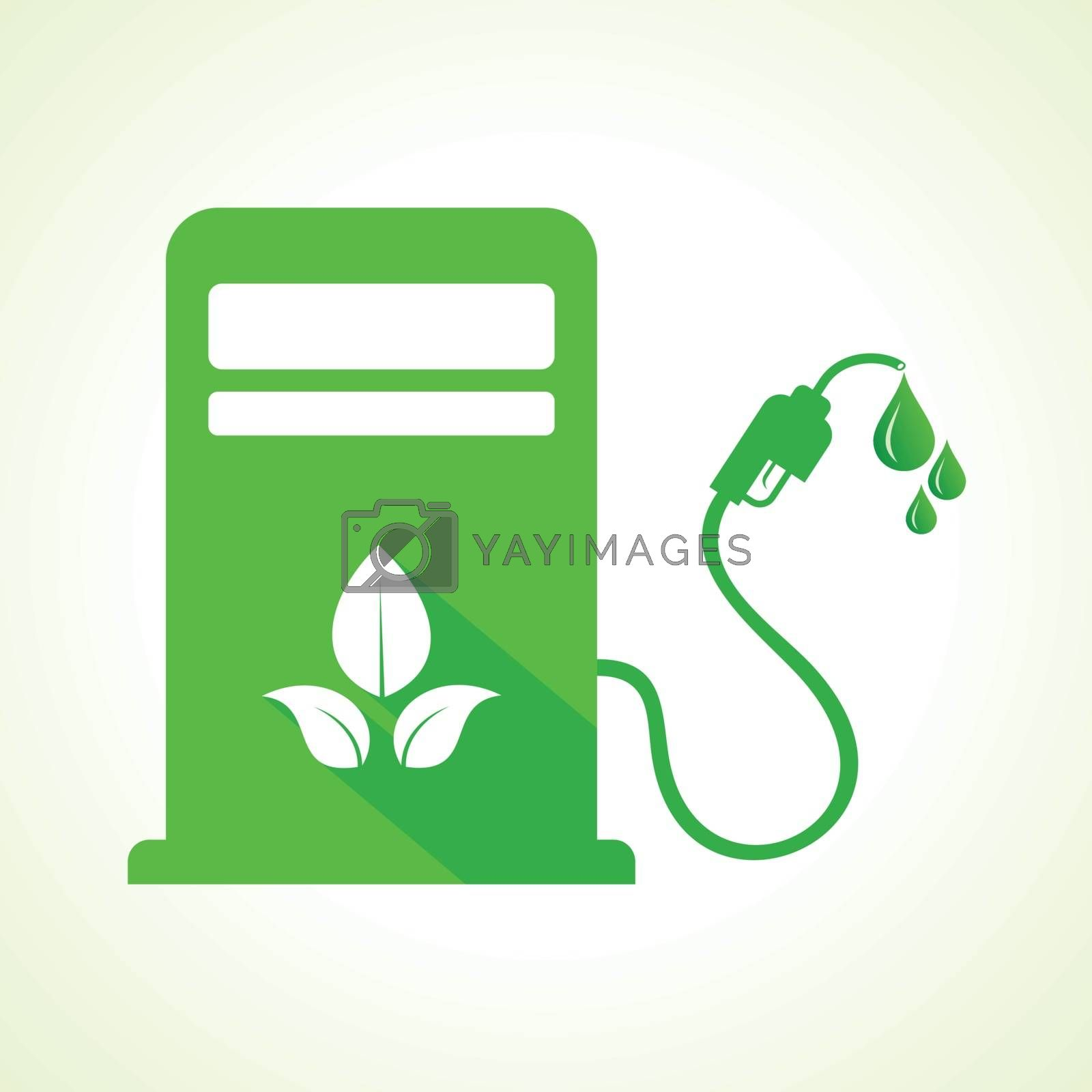 Bio fuel concept with petrol pump machine