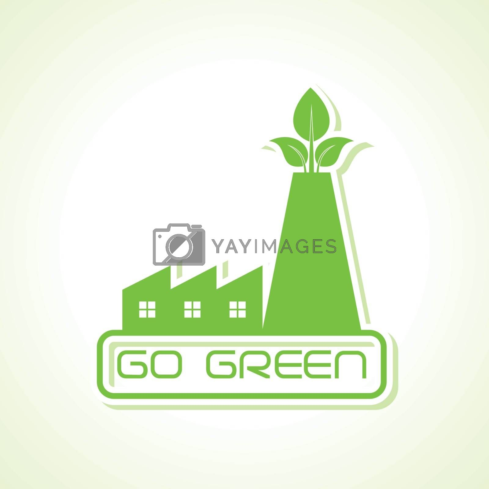 green industry design icon design vector