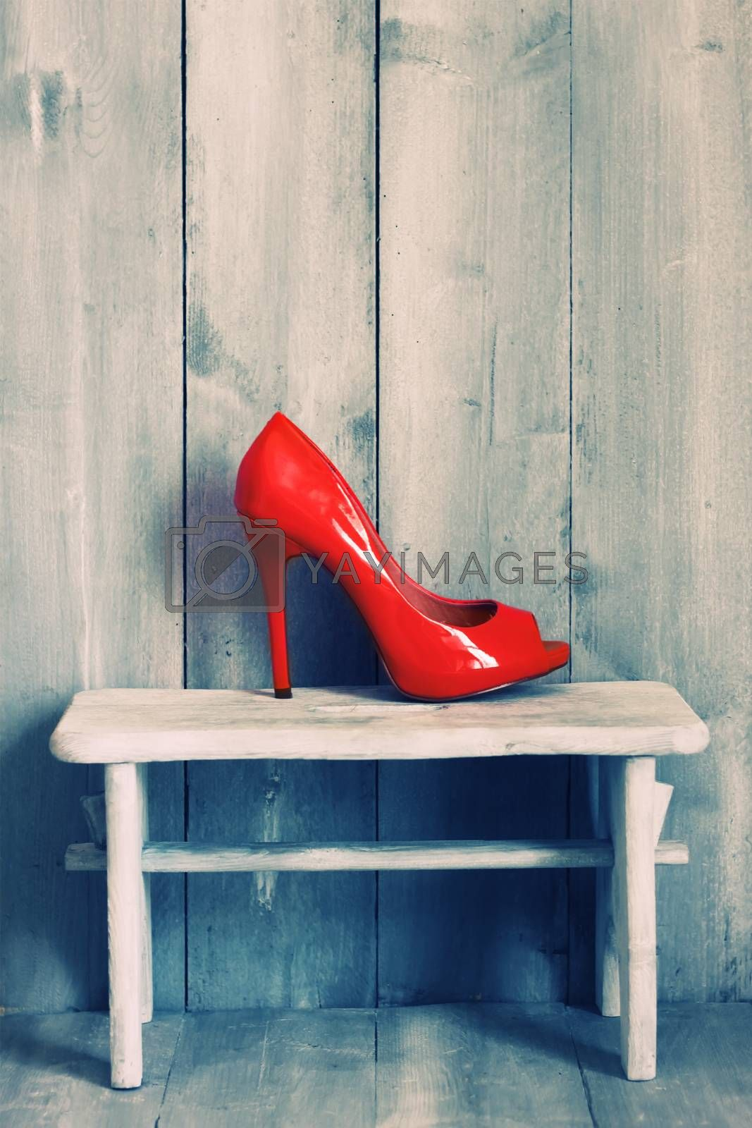 Retro photo of red shoes