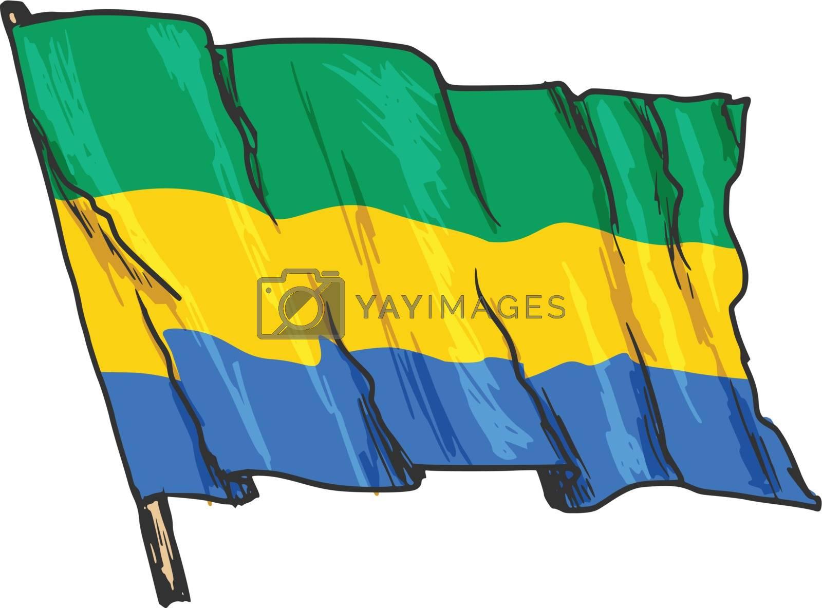 flag of Gabon by Perysty
