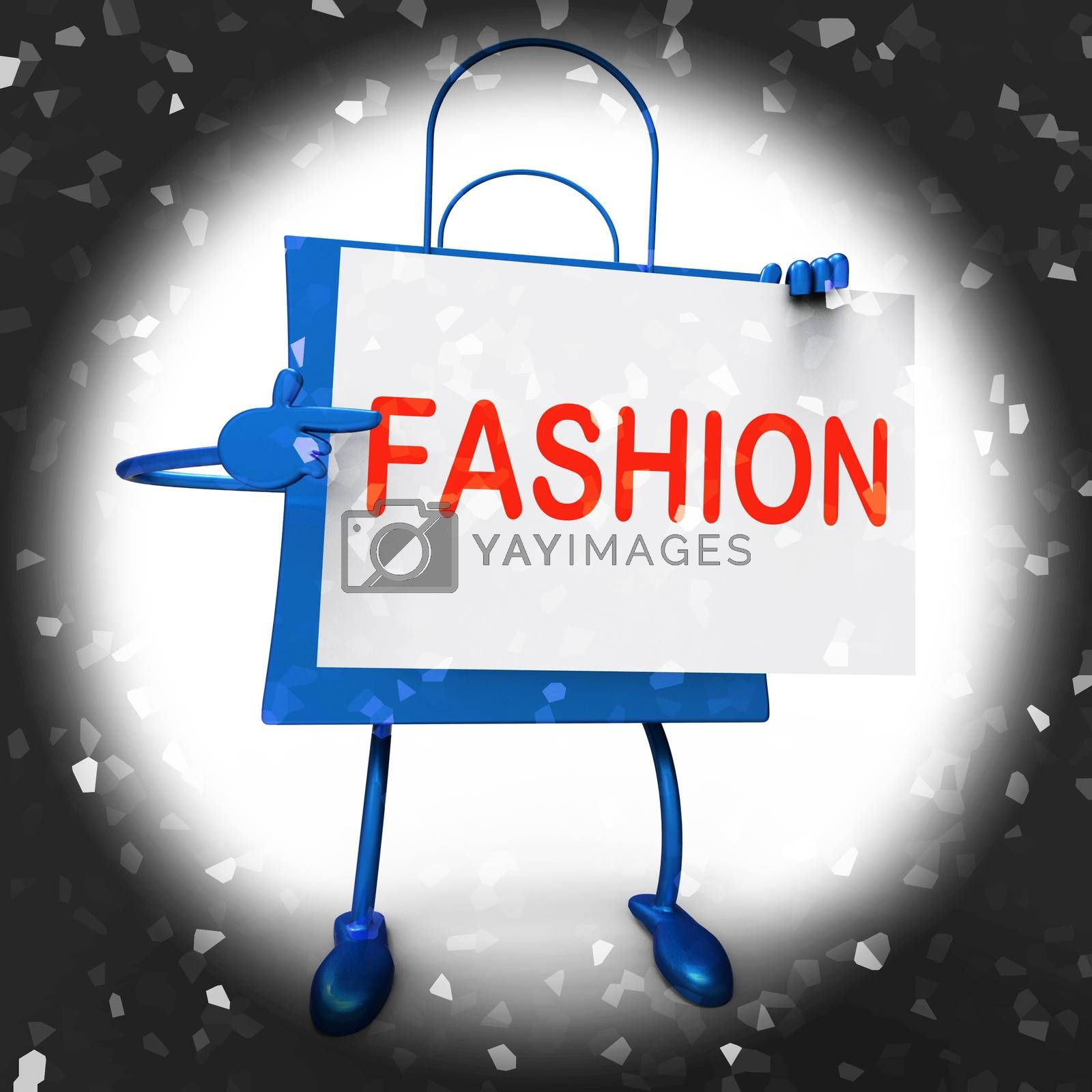 Fashion Shopping Bags Showing Fashionable and Trendy Products